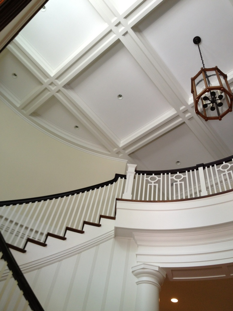 Custom Staircase and Cealing